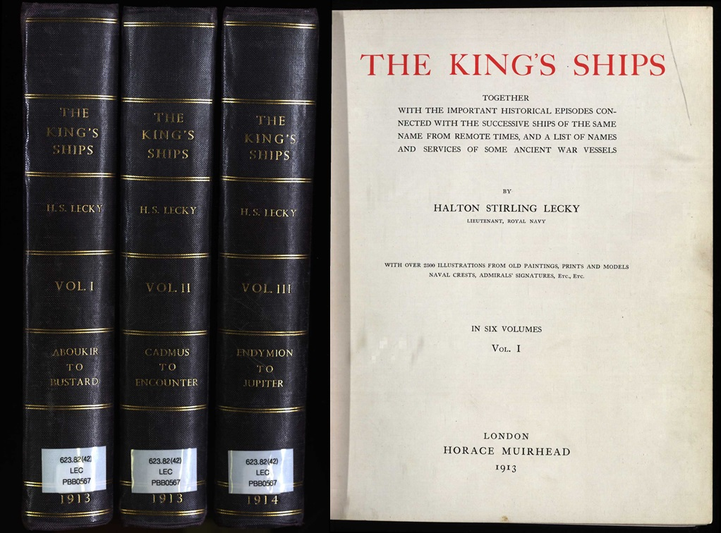 Volume 1-3 of The Kings Ships and title page (PBB0657/1-3)