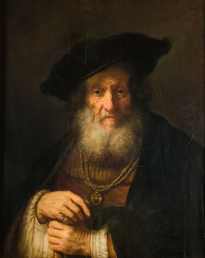 The Old Rabbi, by Rembrandt. From the Woburn Abbey Collection