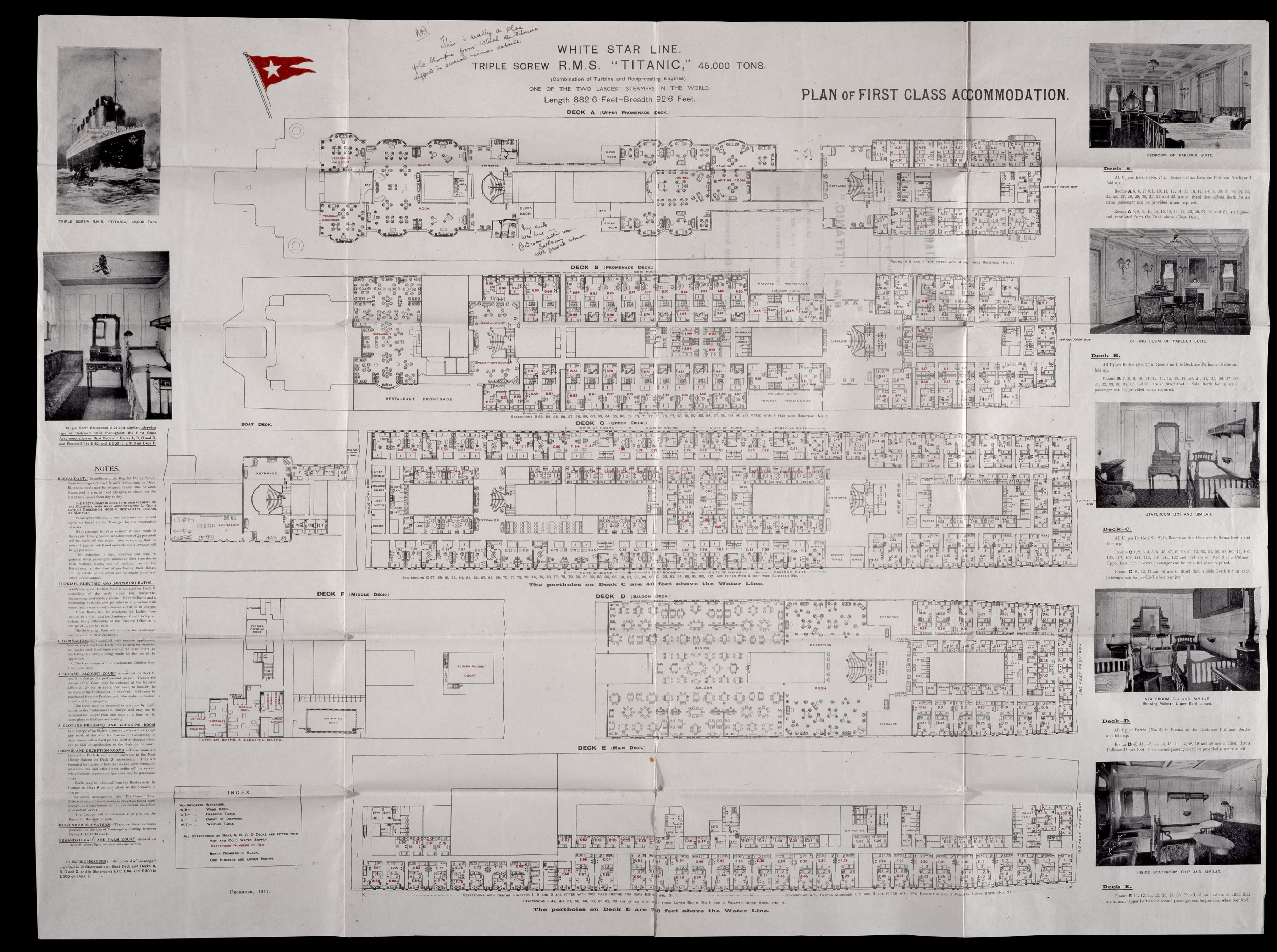 Rms titanic fact sheet explore royal museums greenwich for Deck plans online