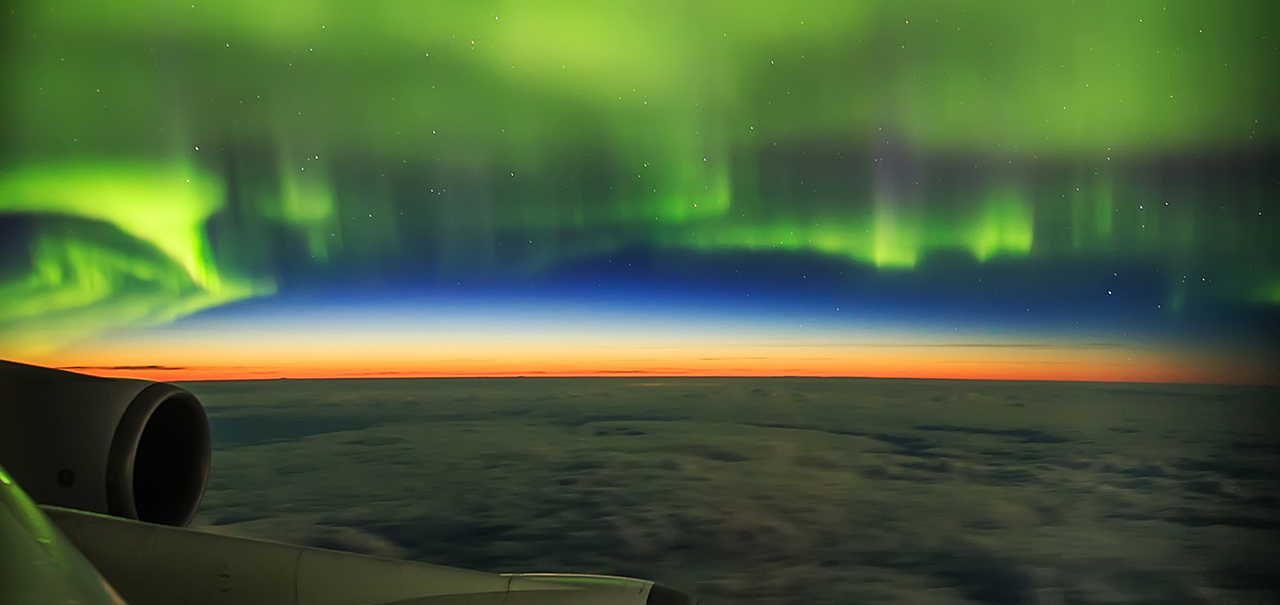 Aurora Shot From a Plane © Ziyi Ye