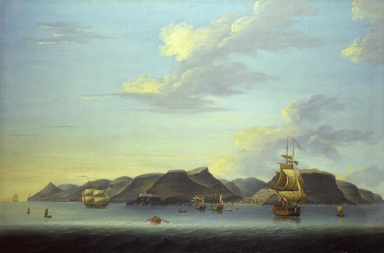 Shipping off Saint Helena