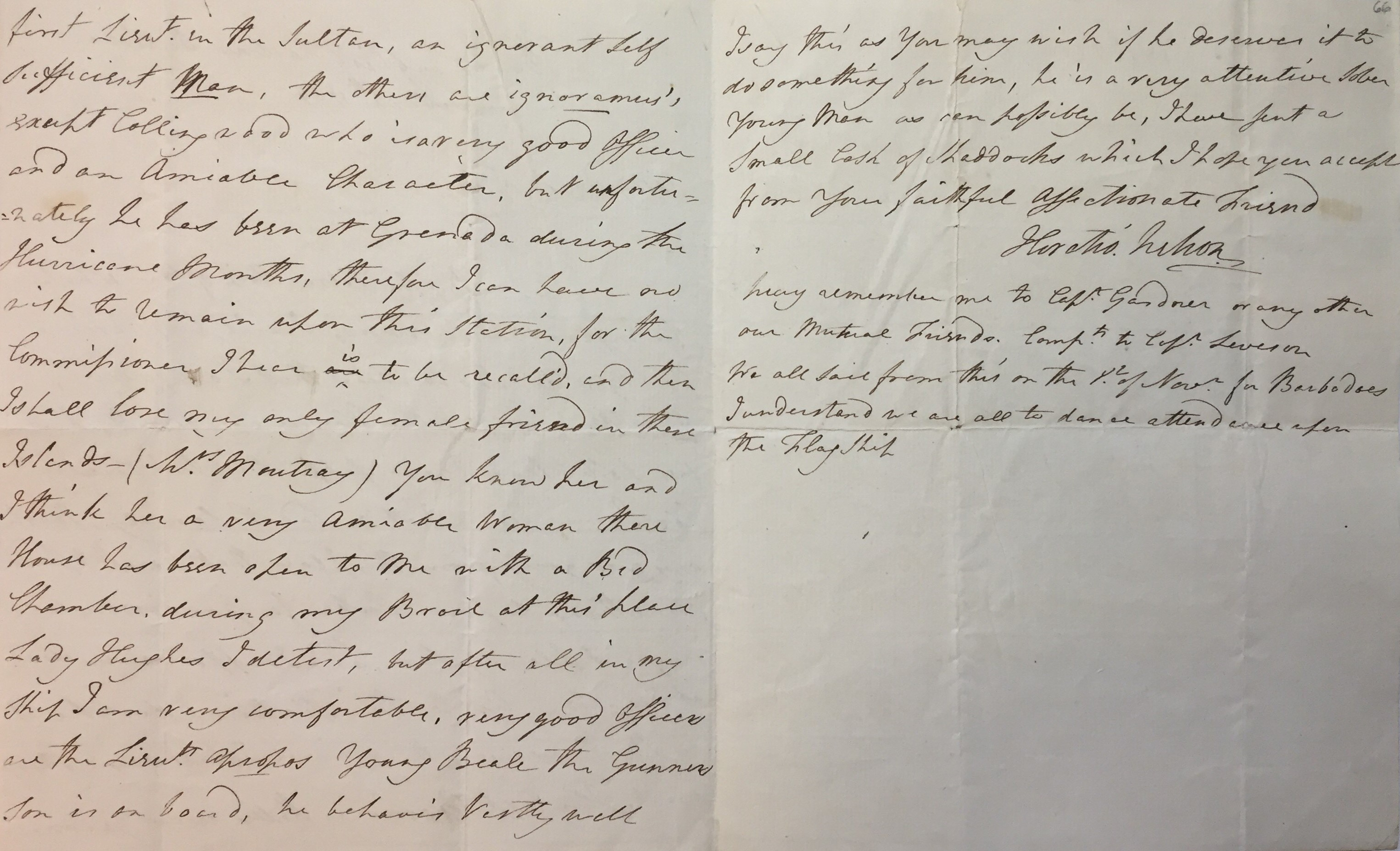 Nelson's letter to Cornwallis
