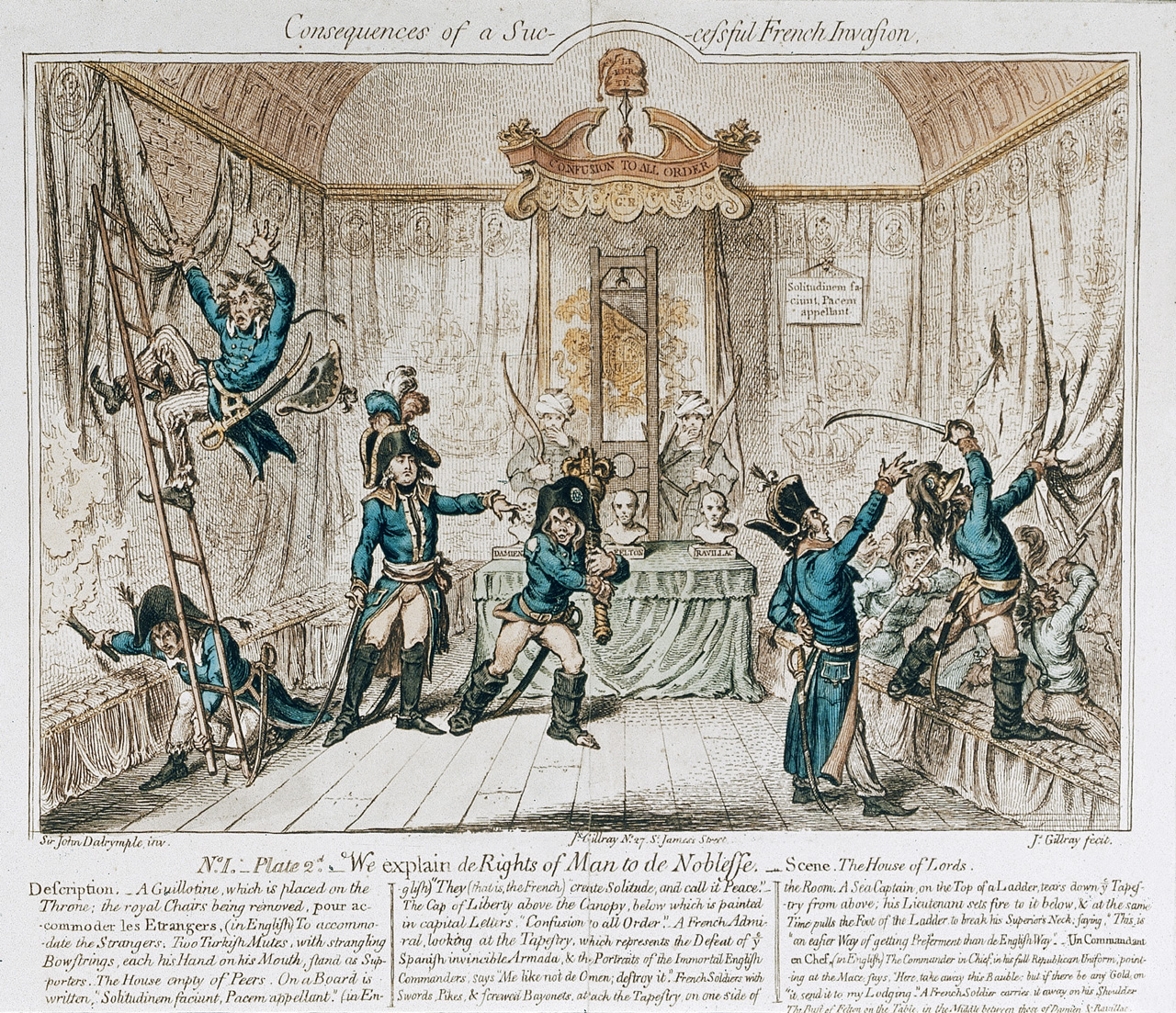 James Gillray. Consequences of a Successful French Invasion. Watercolour, 1798
