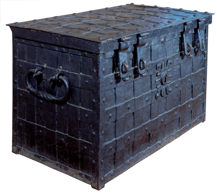The Chatham Chest, built in the 17th century and transferred to Greenwich in the 19th century