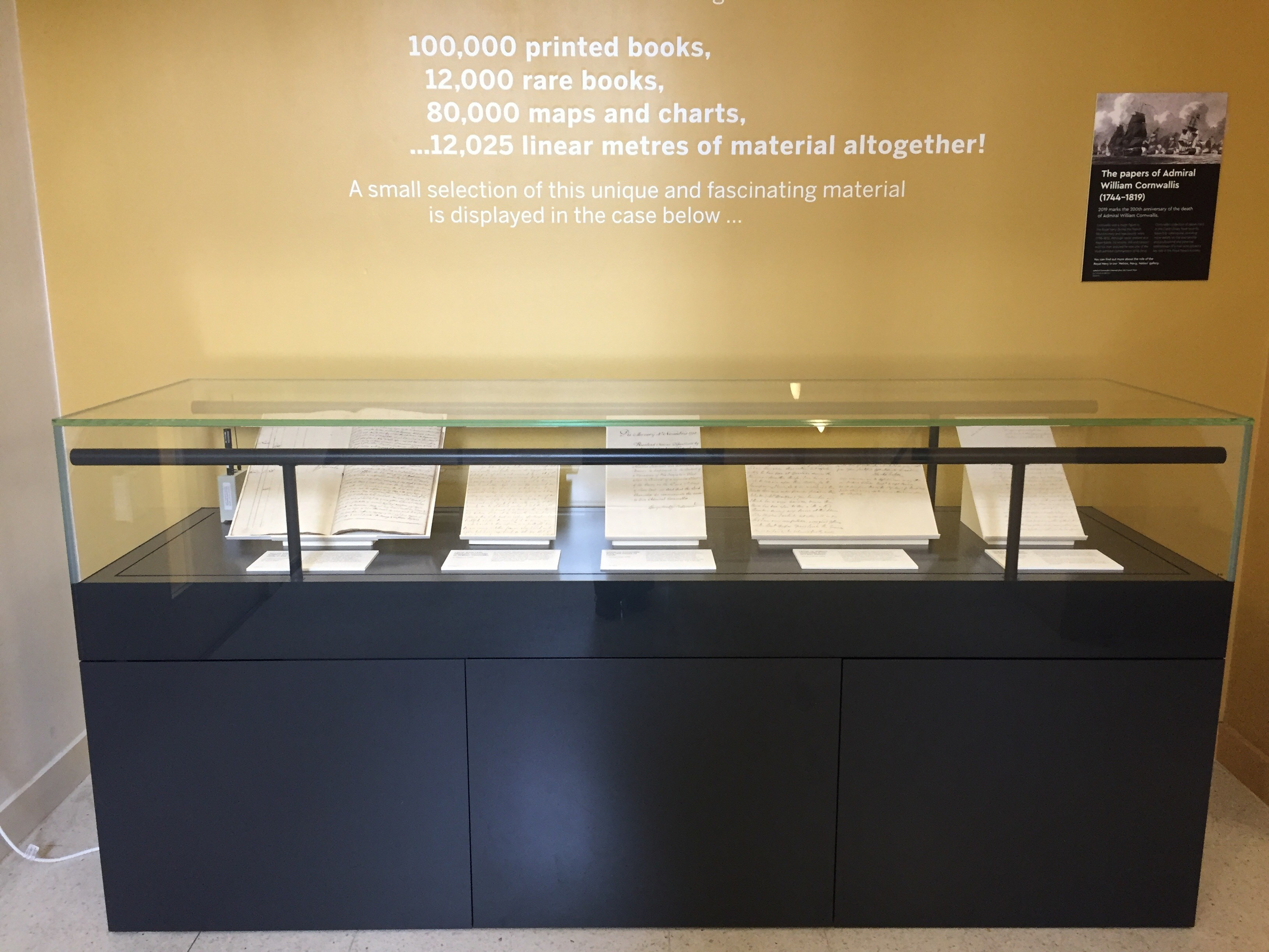 The Caird Library Display Case