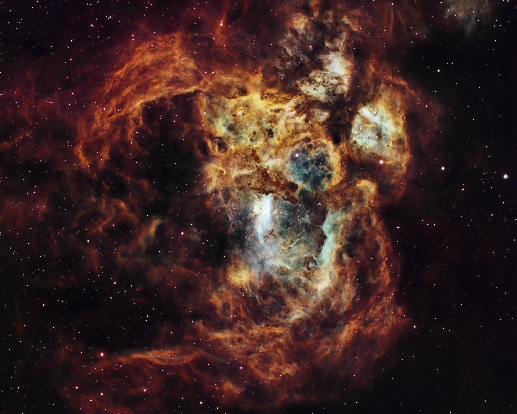   Insight Investment Astronomy Photographer of the Year 2019   Stars and Nebulae: Fiery Lobster Nebula by Suavi Lipinski