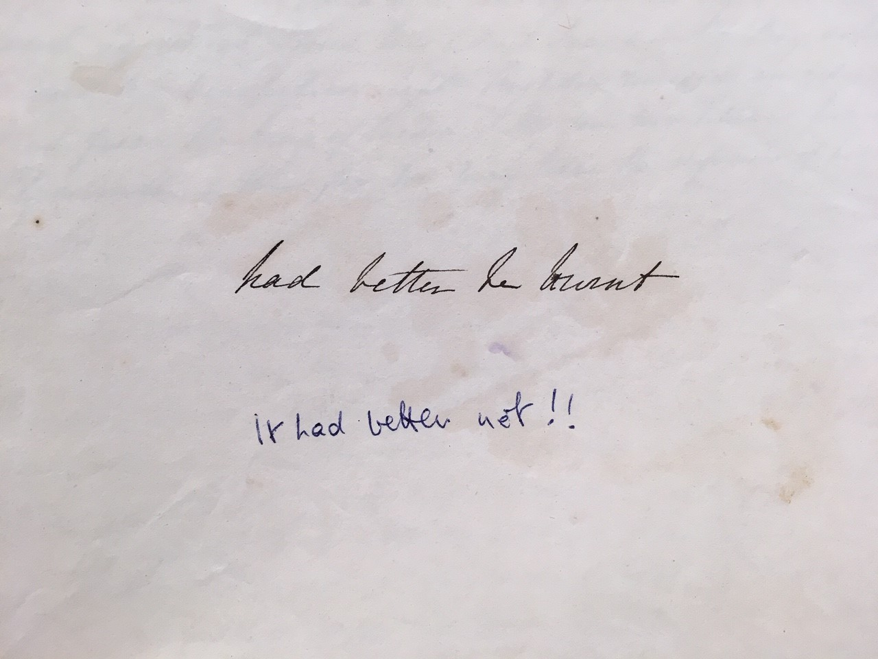 Intriguing messages left by different family members over time