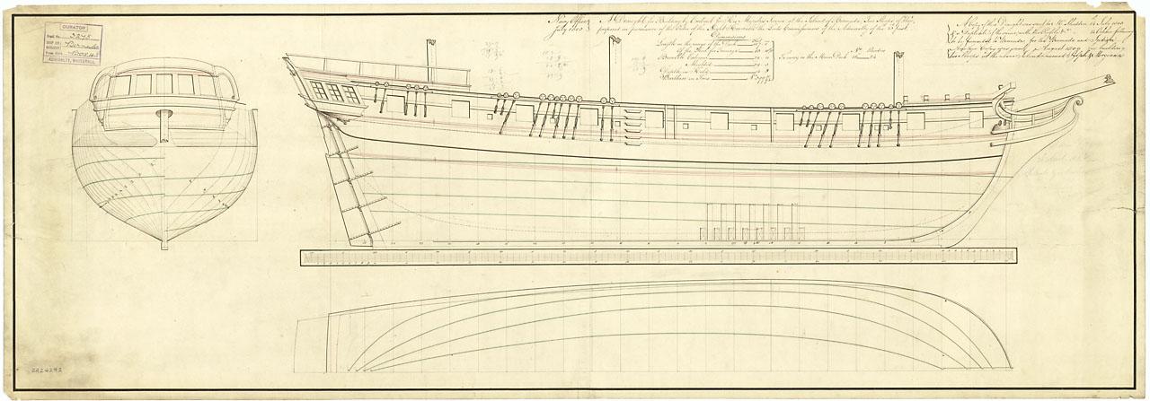 Ship plan, 1807