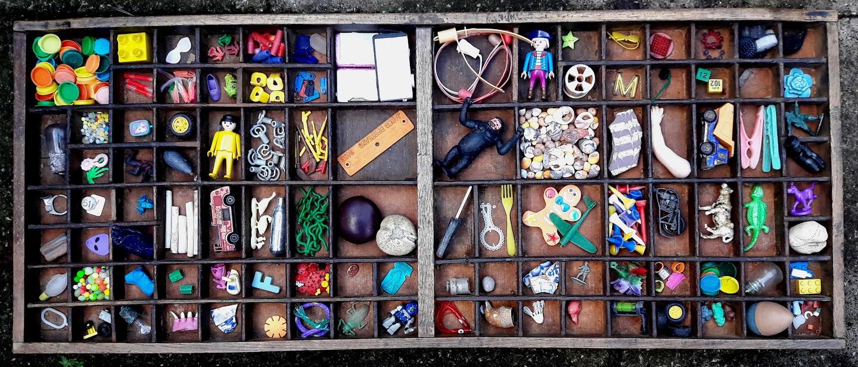 Image of flotsam weaving - found objects