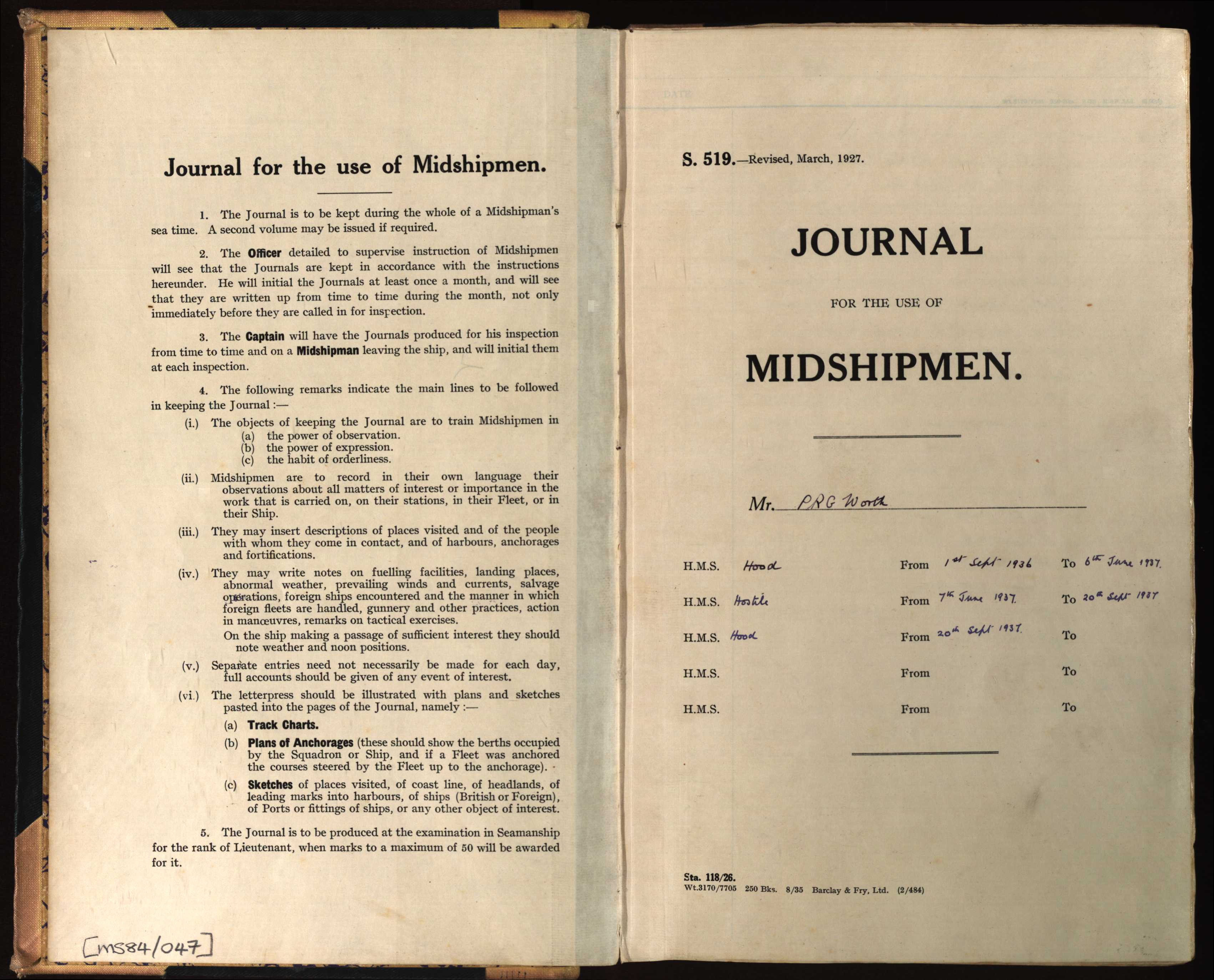 Journal title page