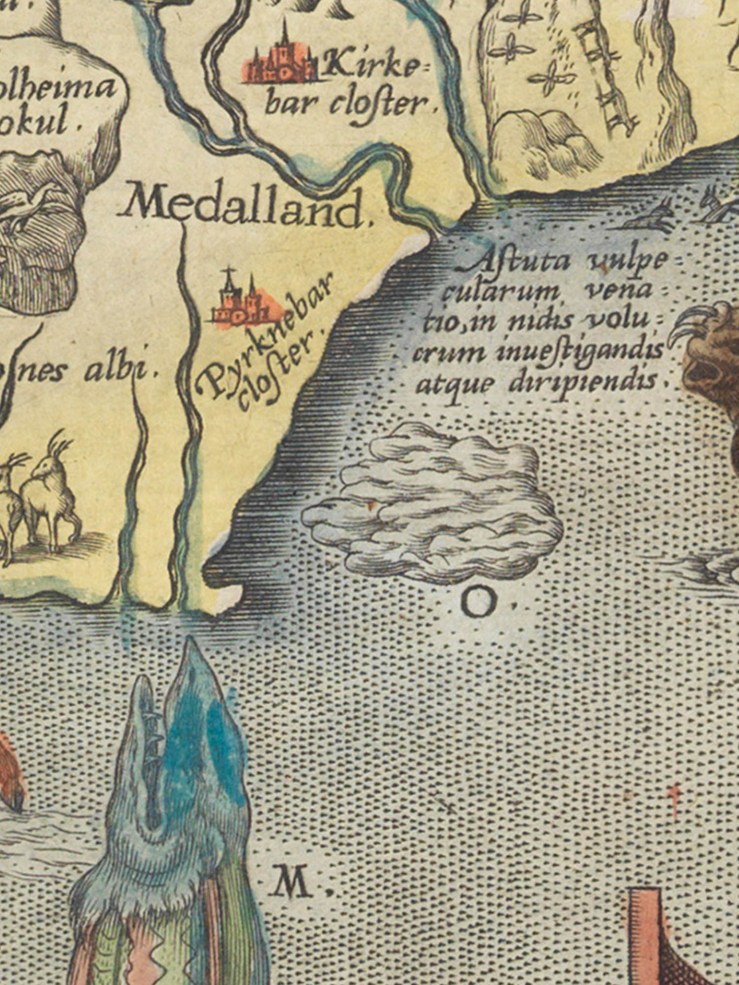 """Image of sea monster O from the Islandia map. """"Hualamber"""""""