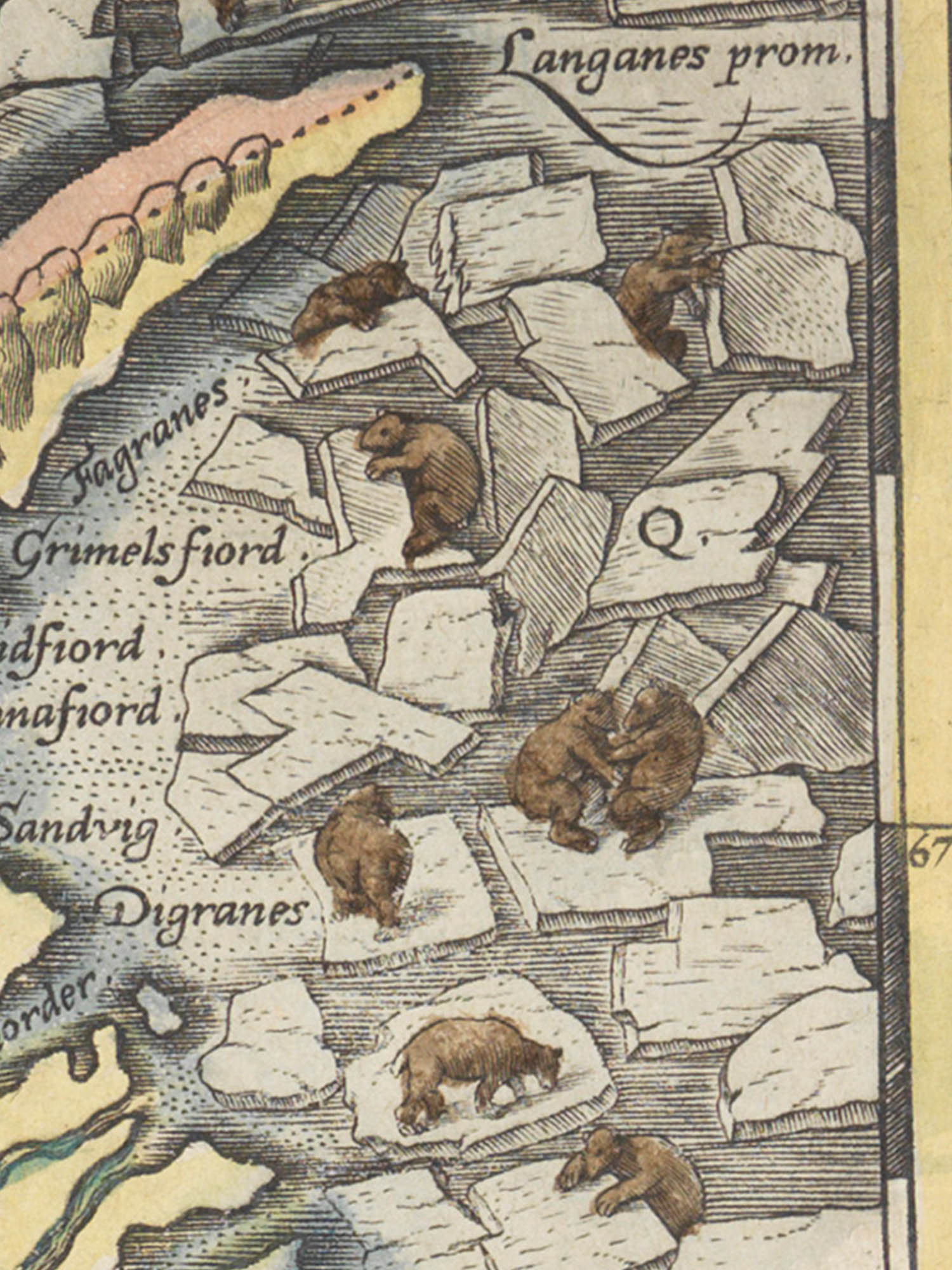 Image of heaps of ice from the Islandia map.