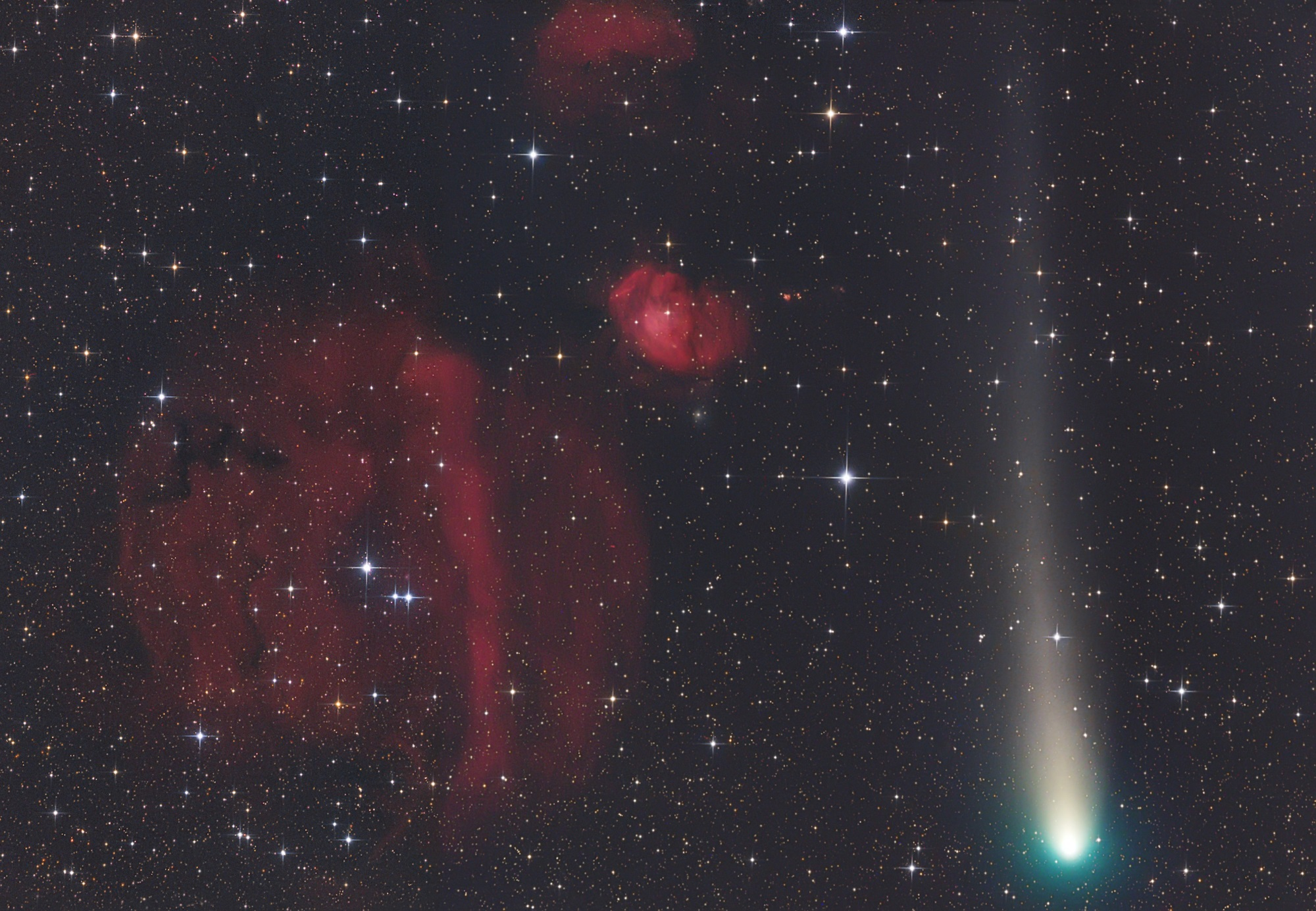 Insight Investment Astronomy Photographer of the Year 2019: Planets, Comets and Asteroids - Colourful Encounter © Gerald Rhemann