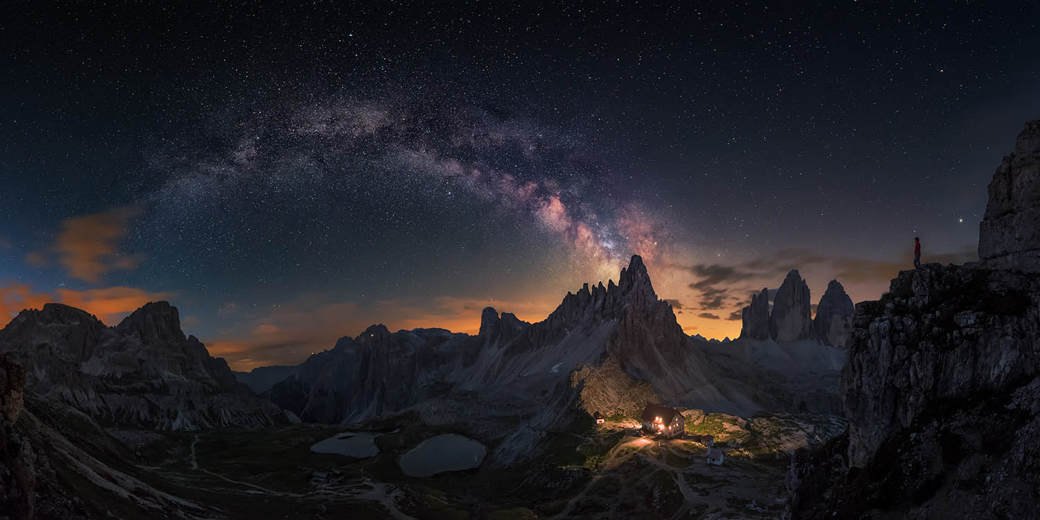 Image of milky way above mountains