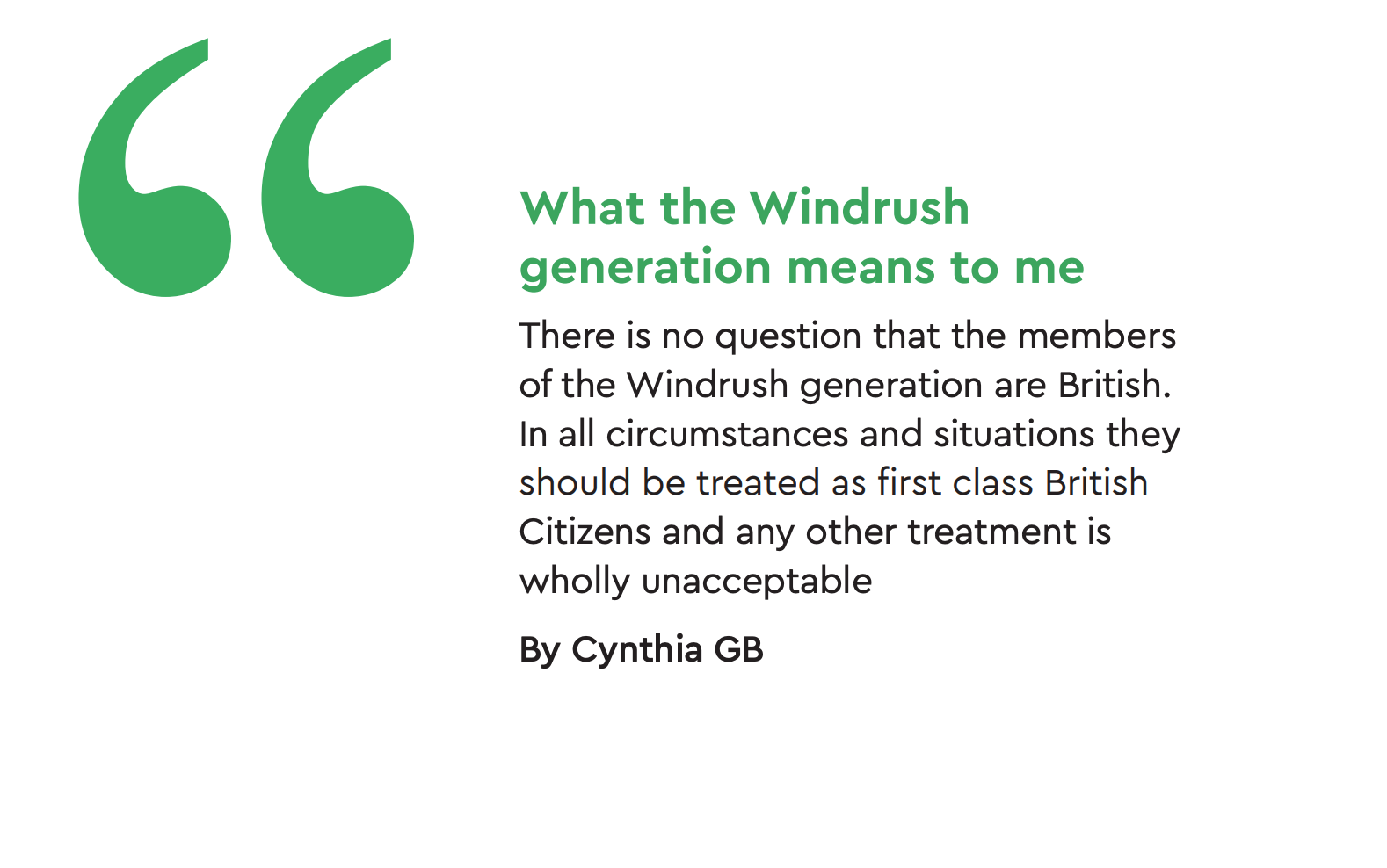 Reflections on Windrush