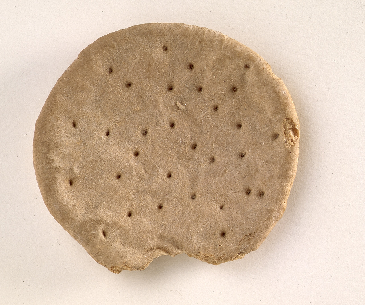 Ship's Biscuit, © National Maritime Museum, Greenwich, London.