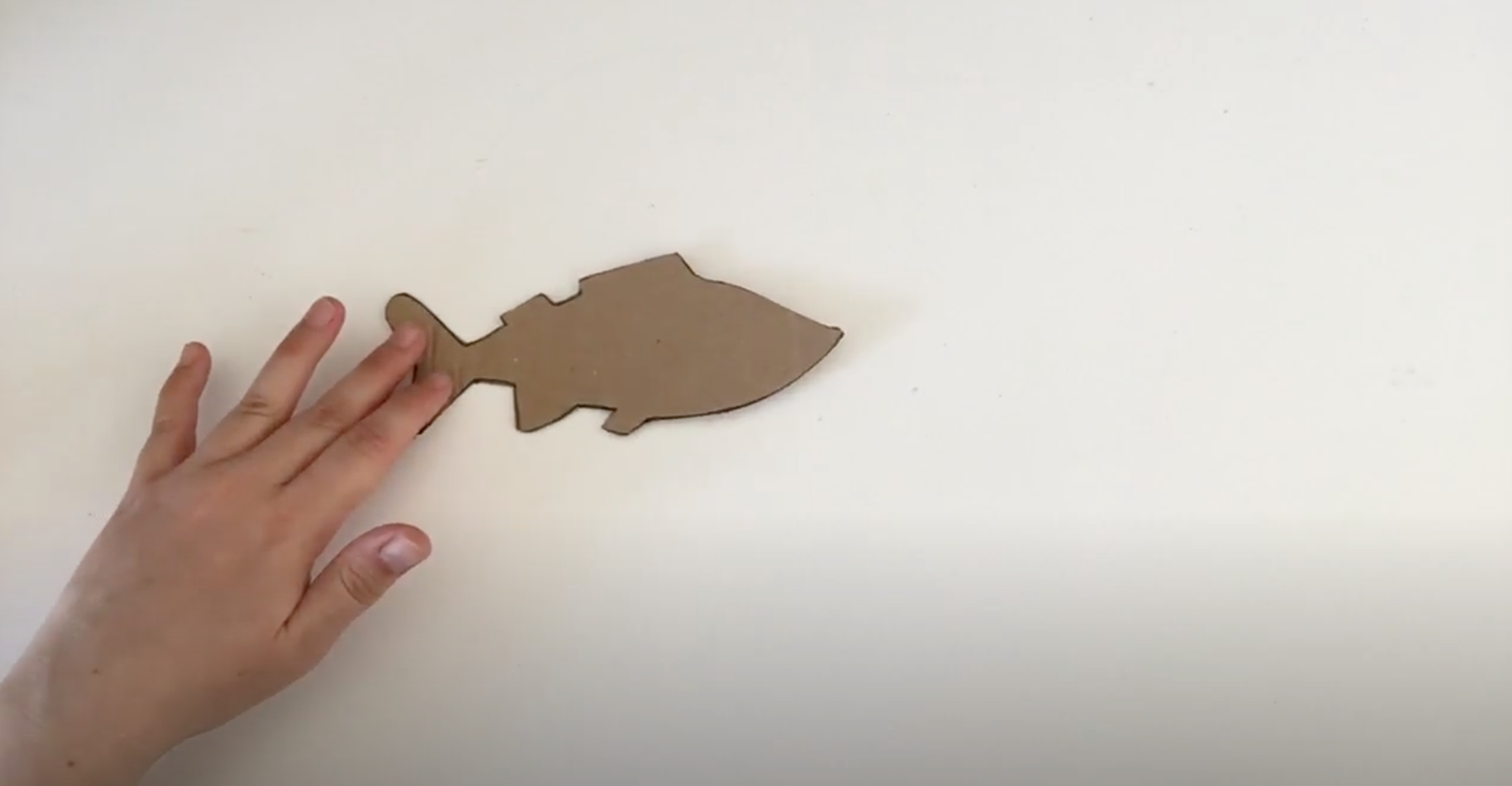 Image shows fish cut out of cardboard