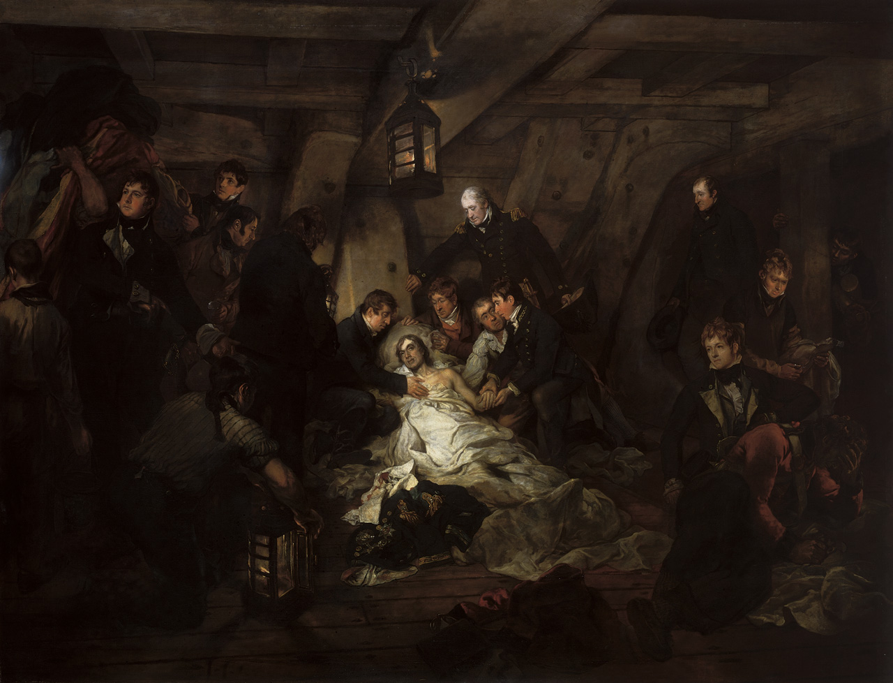 The Death of Nelson, 21 October 1805. © National Maritime Museum, Greenwich, London.