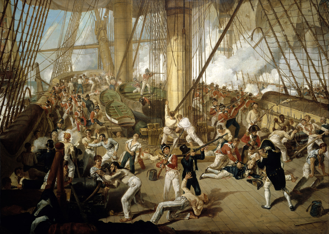 The Fall of Nelson, Battle of Trafalgar, 21 October 1805 © National Maritime Museum, Greenwich, London.