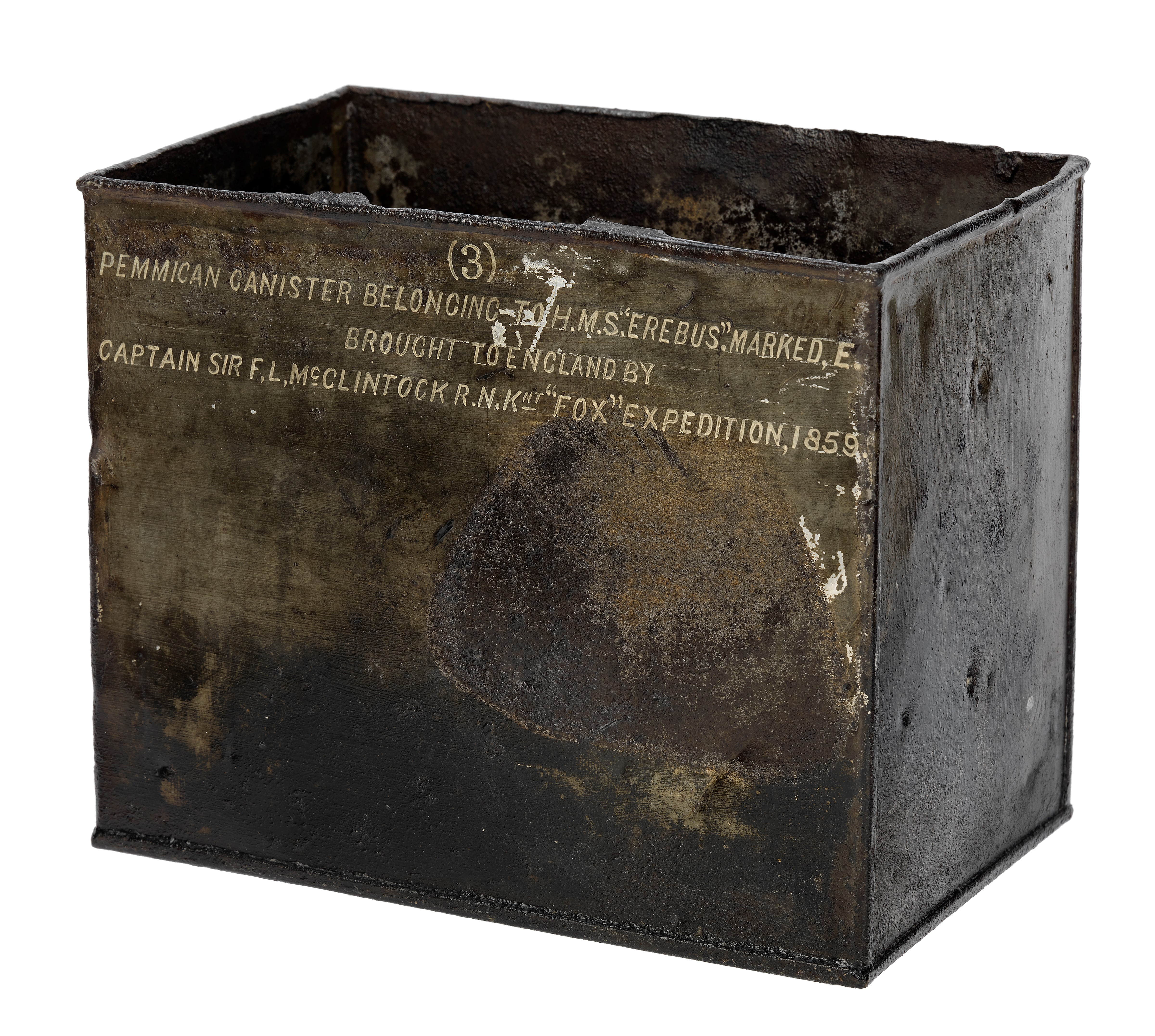 Pemmican tin from the Franklin expedition (AAA2196)