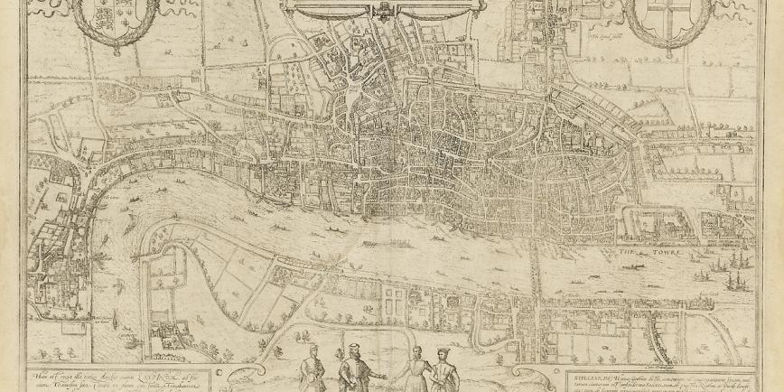 Map of London ca.1580