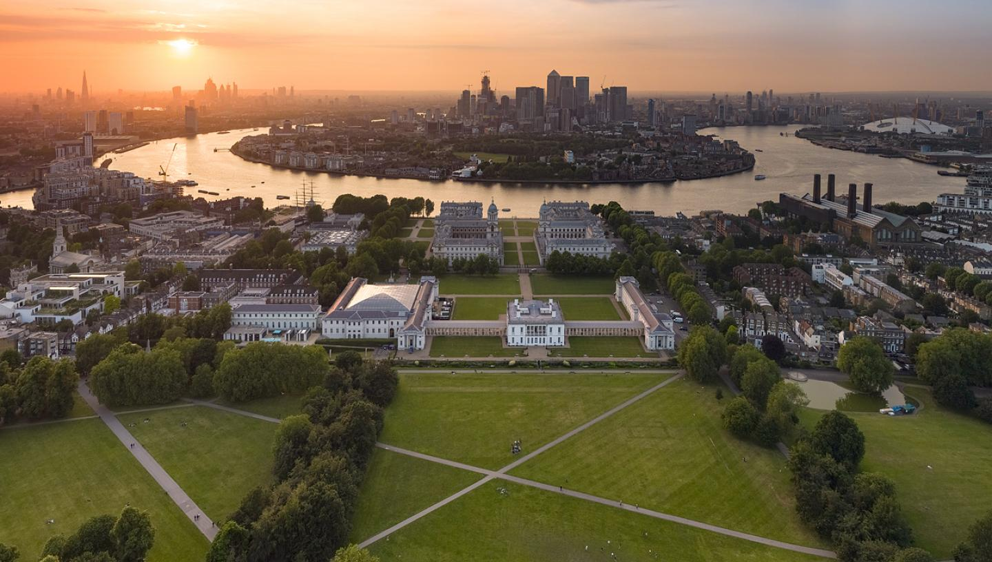 Royal Museums Greenwich aerial view