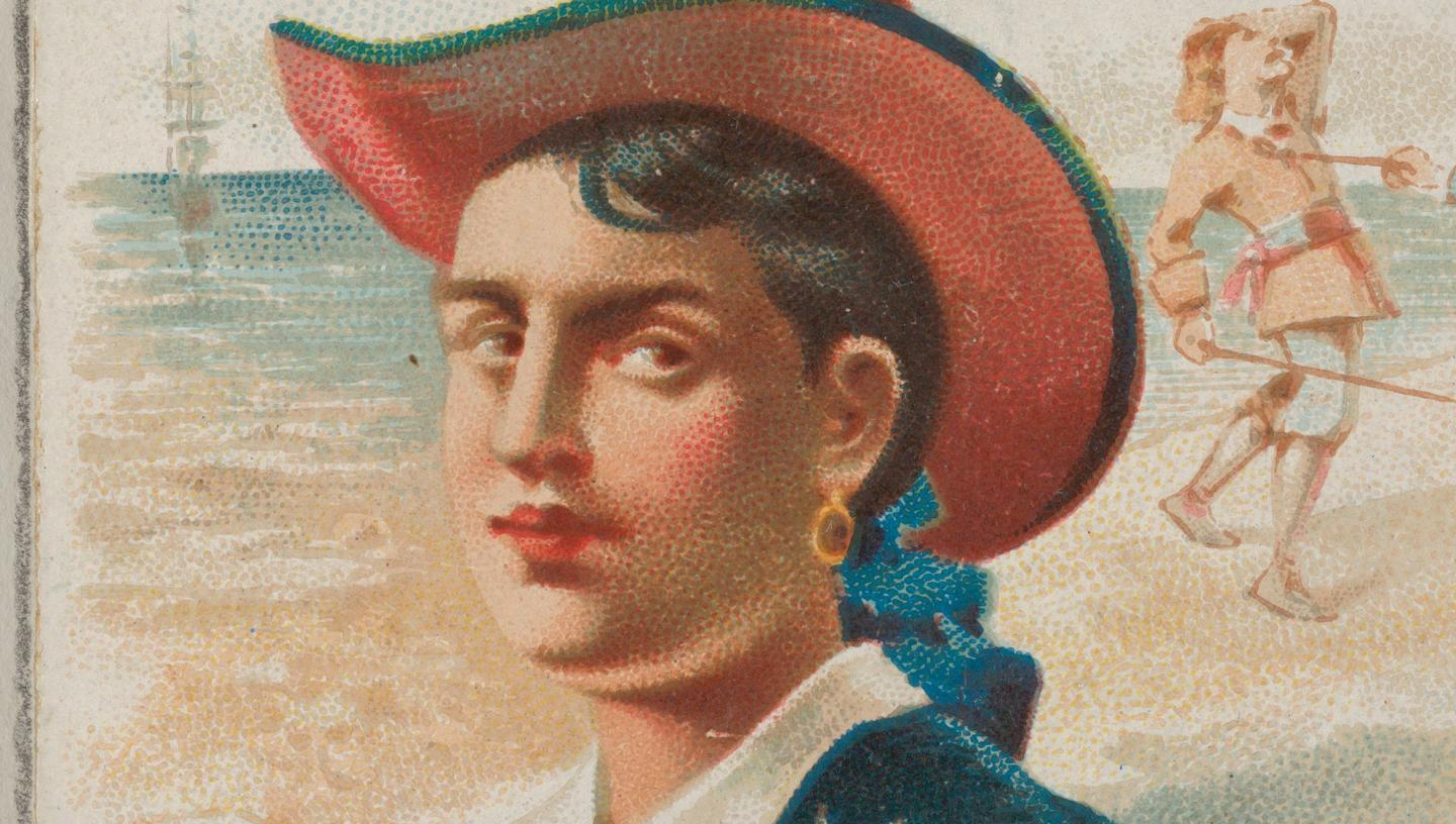 An illustration of pirate Mary Read