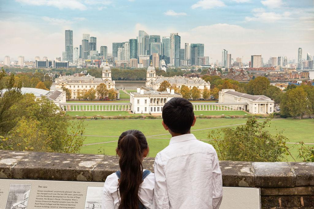 An image showing 'Contemplate the view of the Park and the Queen's House'