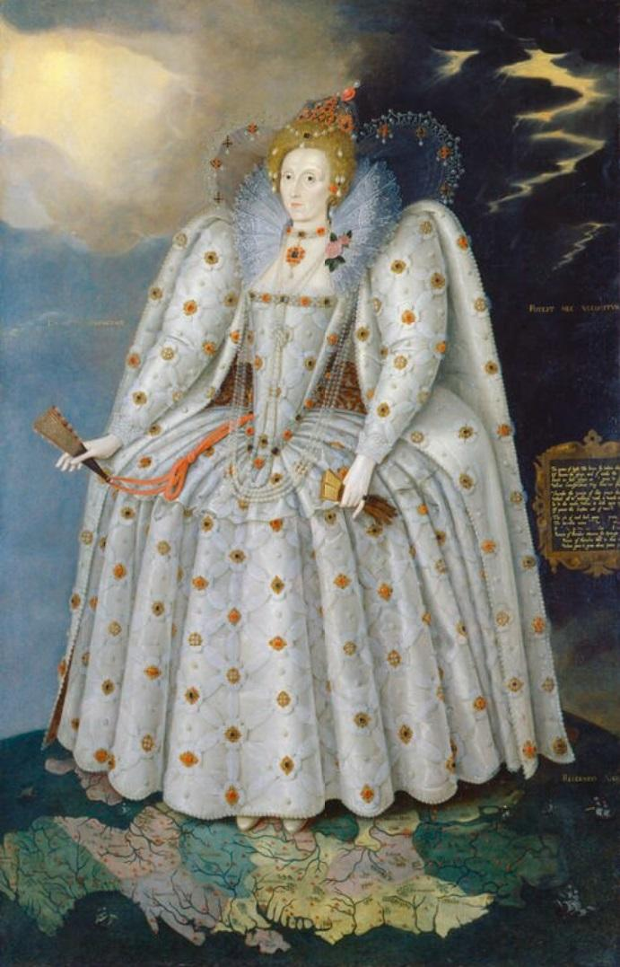 An image showing 'Elizabeth I (the 'Ditchley portrait') by Marcus Gheeraerts the Younger, about 1592'
