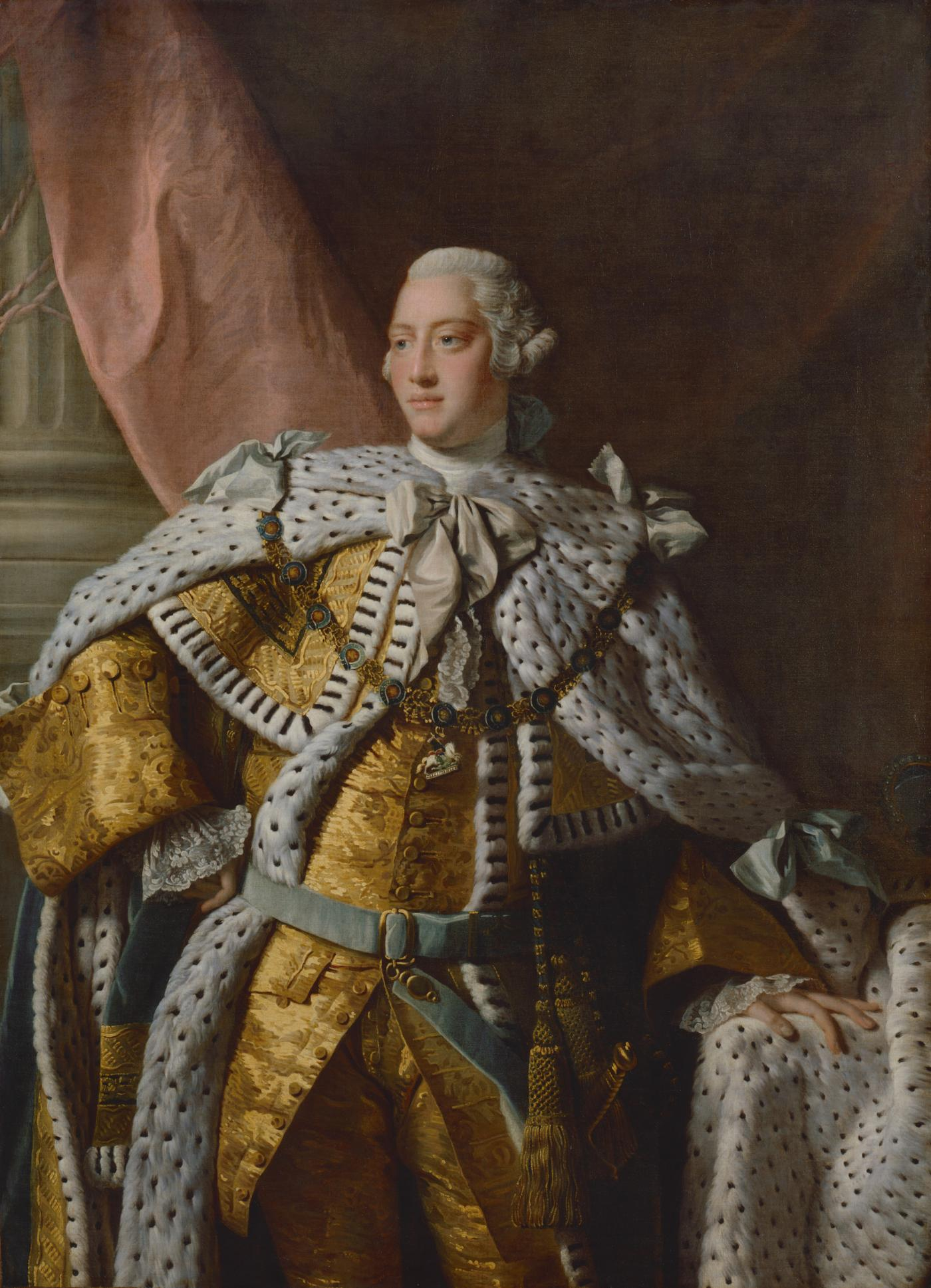 An image showing 'George III by studio of Allan Ramsay, based on a work of 1761-62'