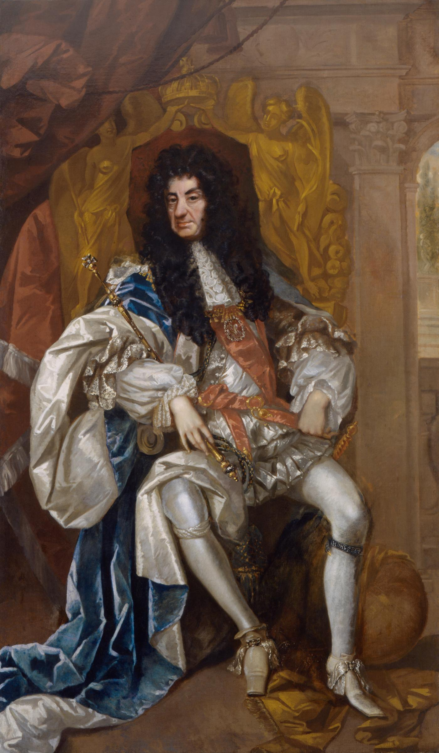 An image showing 'Charles II, attributed to Thomas Hawker, about 1680'