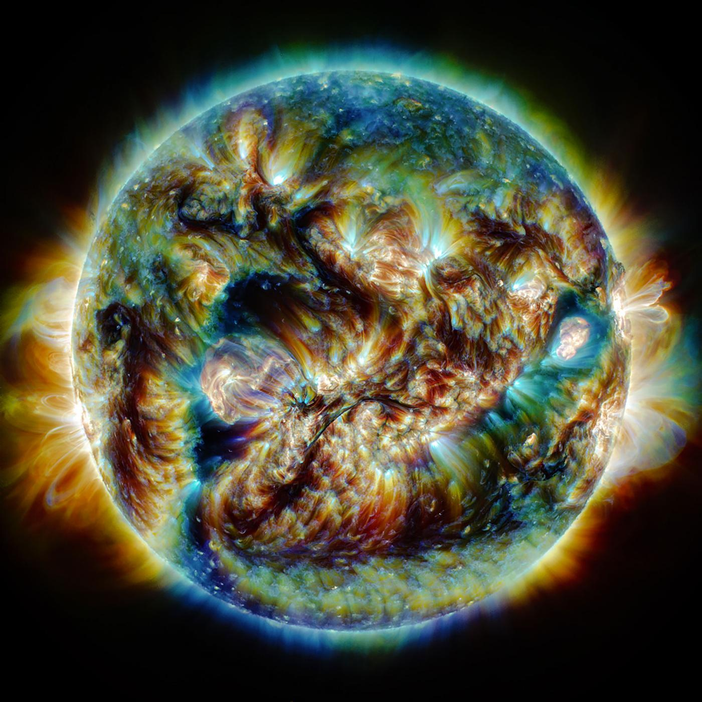 An image showing 'The Tumult of the Sun'