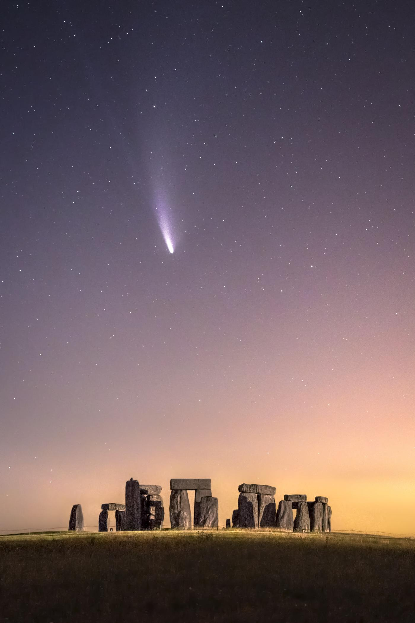 An image showing 'Comet Neowise over Stonehenge '