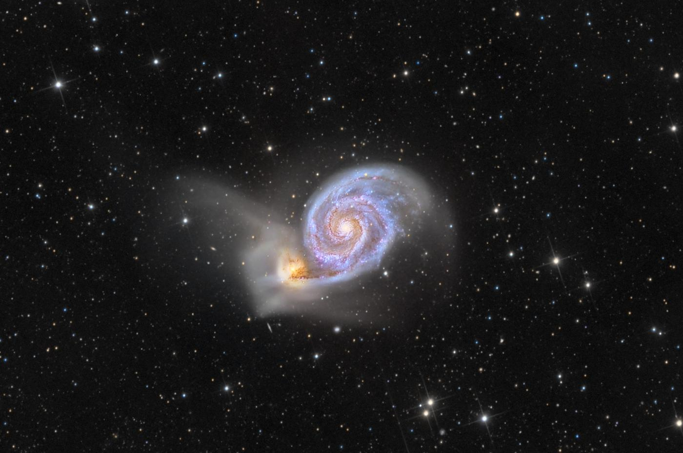 An image showing 'Dance of Galaxies'
