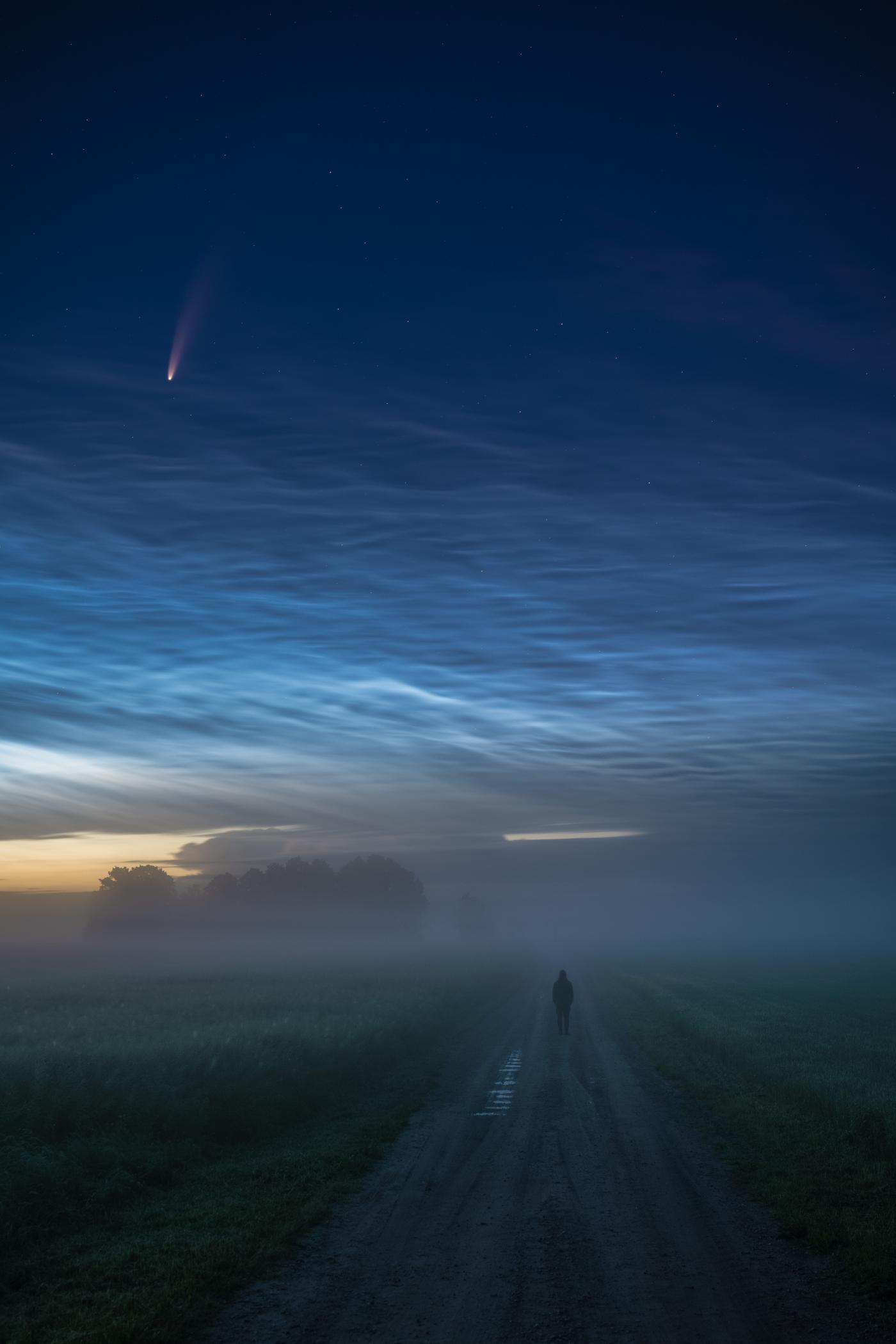 An image showing 'Into Blue Hour'