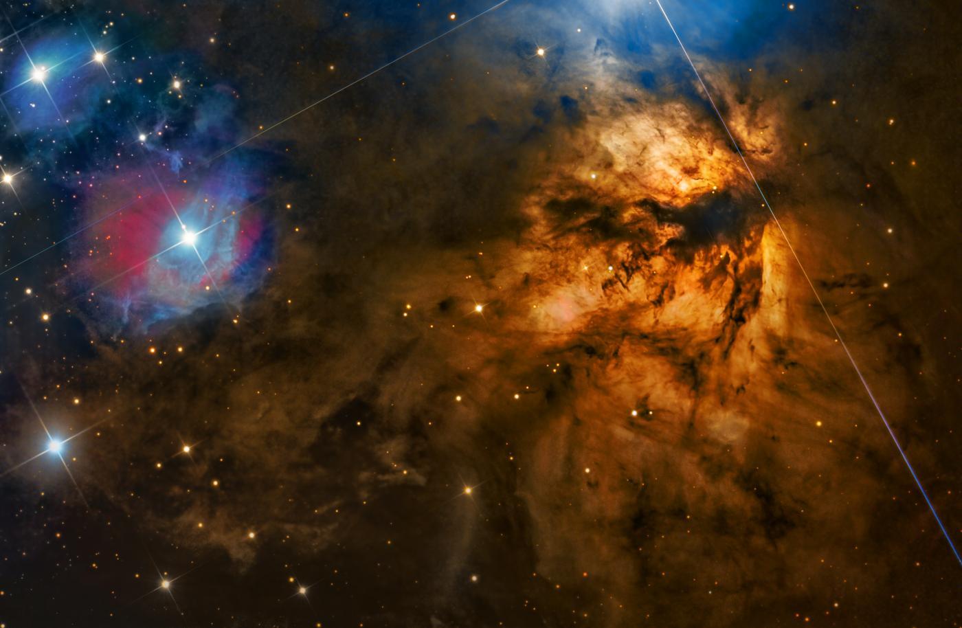 An image showing 'NGC 2024 – Flame Nebula'