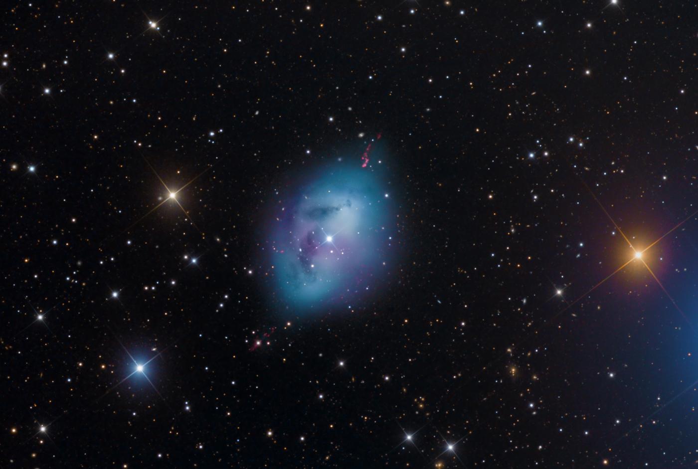 An image showing 'NGC 1360 Planetary Nebula — Robin's Egg'