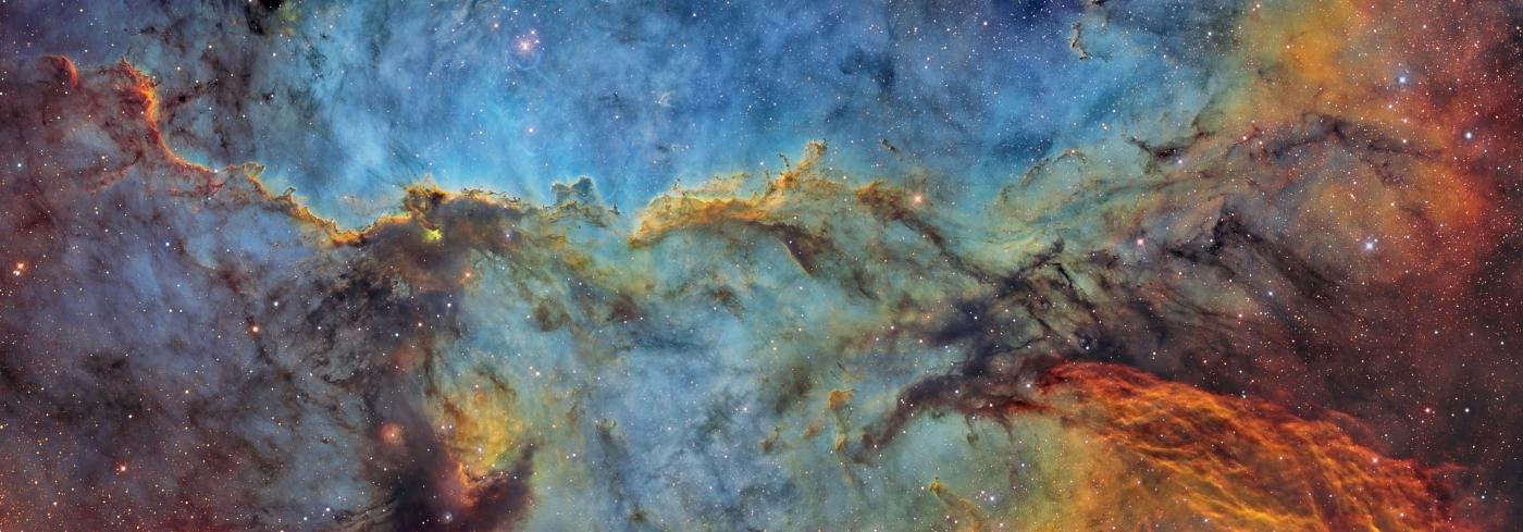 An image showing 'NGC 6188 SHORGB by Cielaustral team'