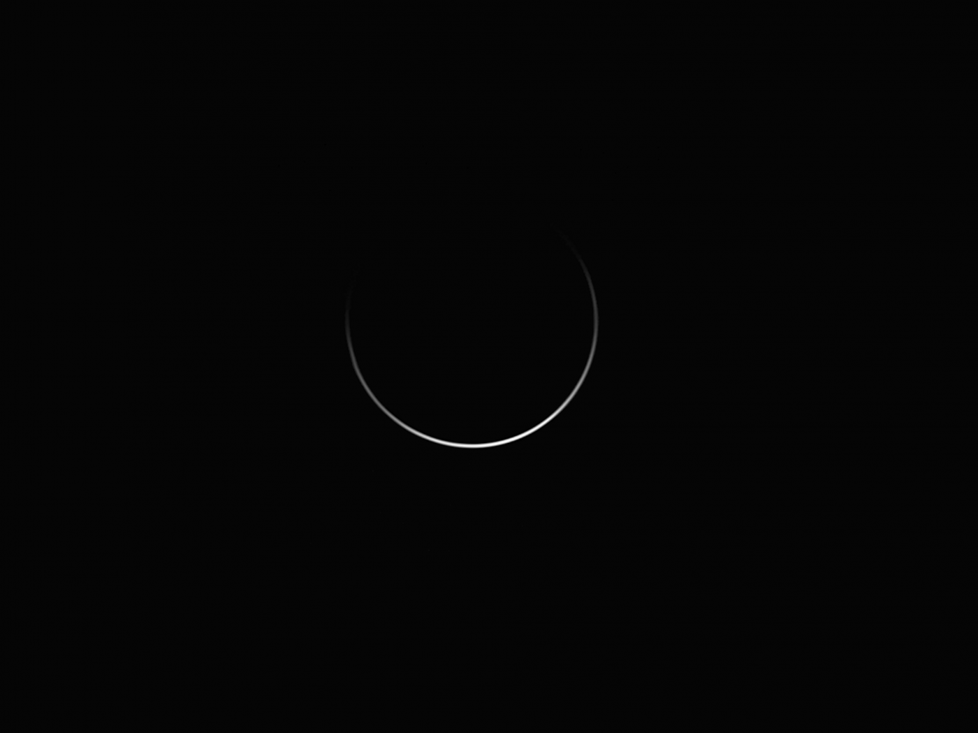 An image showing '3° from the Sun – The Horn Extensions of Venus (highly commended)'