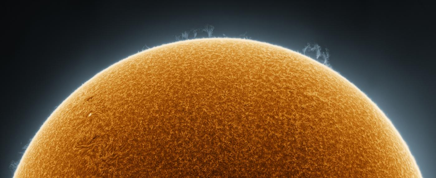 An image showing 'Rising Sun in False Colour'