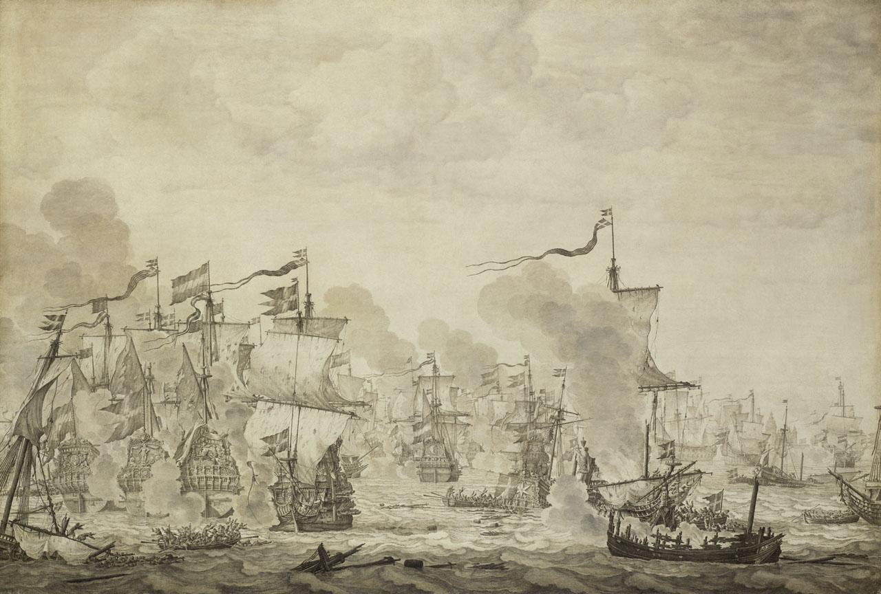 An image showing 'The Battle of the Sound, 8 November 1658'
