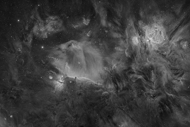 An image showing 'The Hydrogen of Orion'