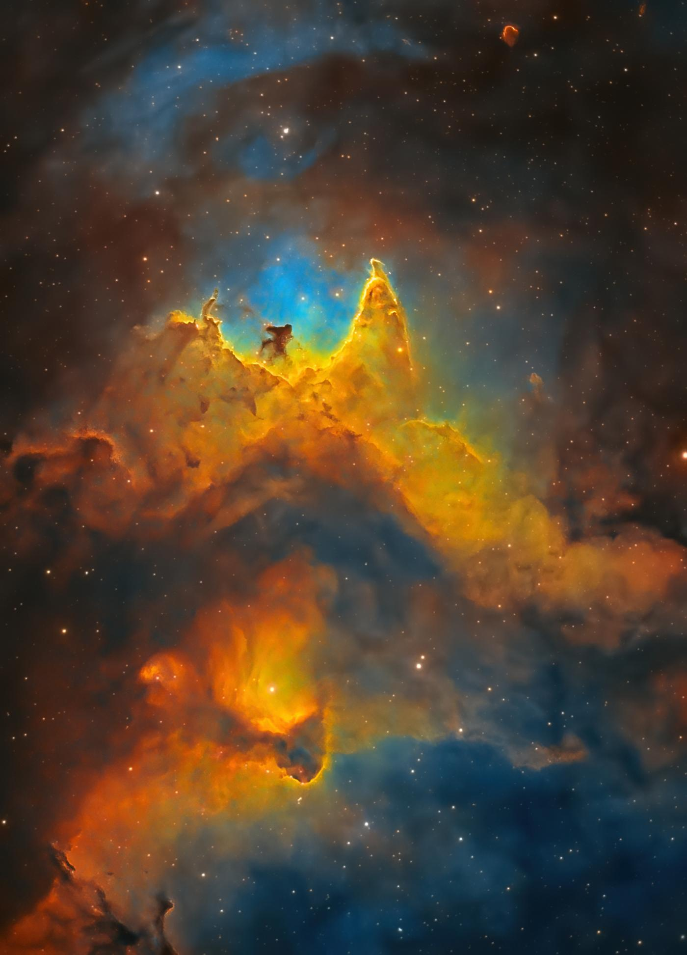 An image showing 'The Soul of Space (Close-up of the Soul Nebula) '