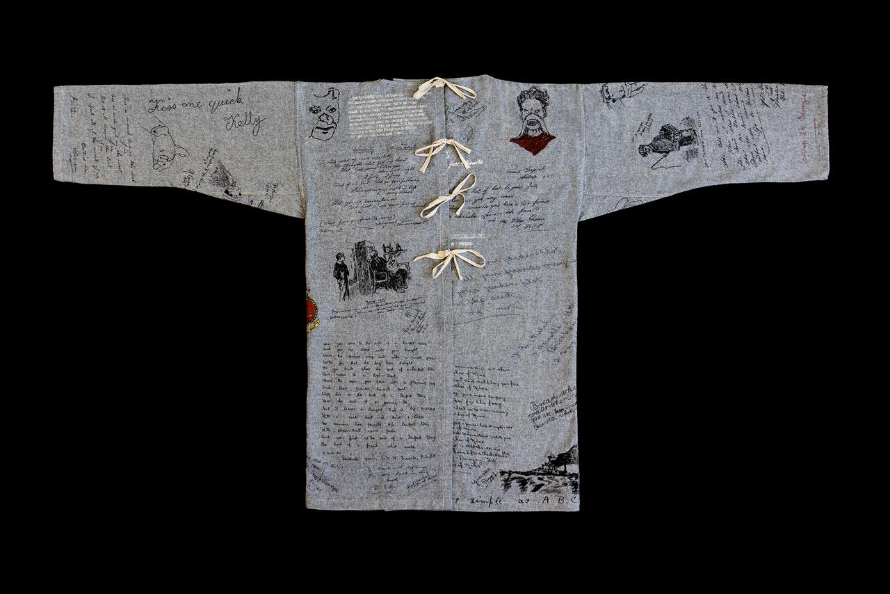 An image showing 'Hospital Gown — inspired by the life of William Vicarage'