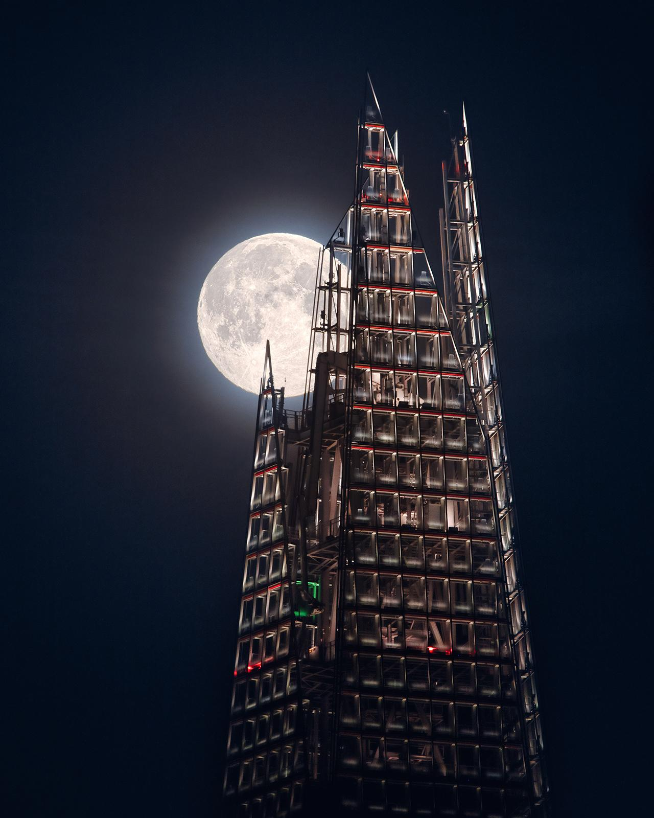 An image showing 'The Moon And the Shard'