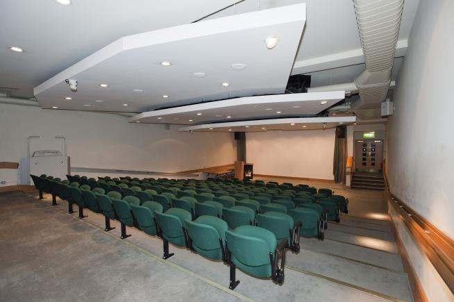 An image showing 'Leopold Muller Lecture Theatre'