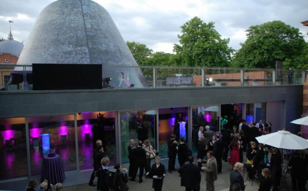 An image showing 'Planetarium Foyer and Courtyard '