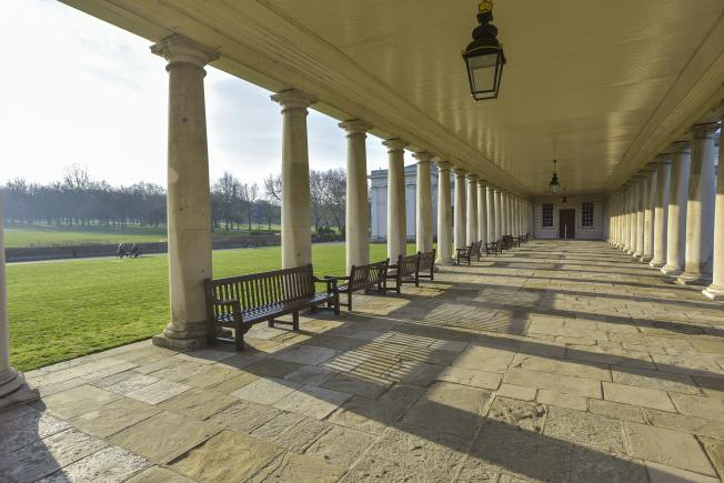 An image showing 'Grounds and colonnades'