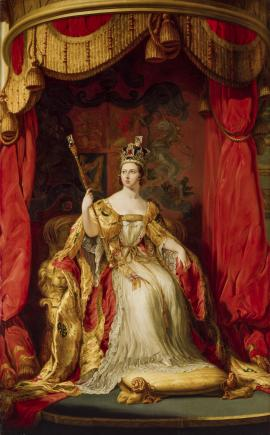 An image showing 'Queen Victoria by Sir George Hayter, 1863, based on a work of 1838'