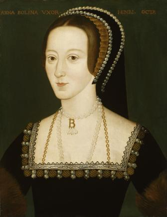An image showing 'Anne Boleyn by an unidentified artist, late 16th century'